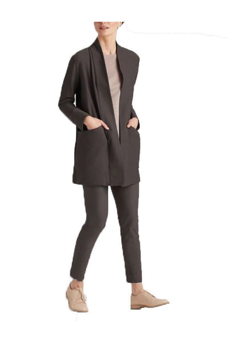 Eileen Fisher Washable Stretch Crepe Kimono Jacket by Eileen Fisher