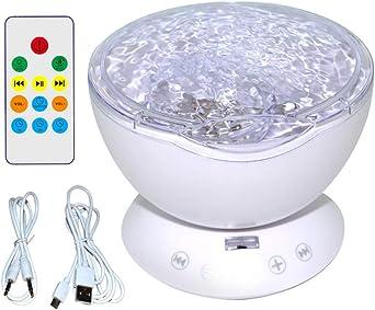 Brucelin - Proyector nocturno, 7 colores LED, luz nocturna, luz ...