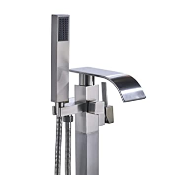 Rozin Floor Mounted Bathtub Faucet Single Lever Mixer Tap With