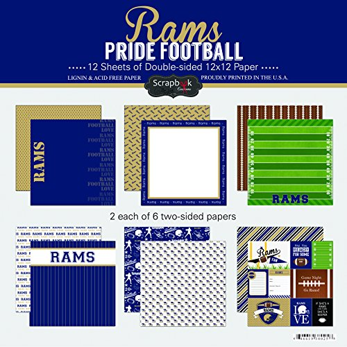 Scrapbook Customs Rams Pride Football Scrapbook Kit (Louis Rams End)