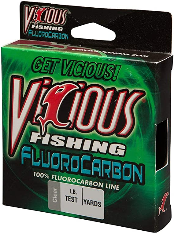 Clear Sizes 4,6,8,10,12,15,17 lb  500 yds NEW Vicious Fluorocarbon Fishing Line