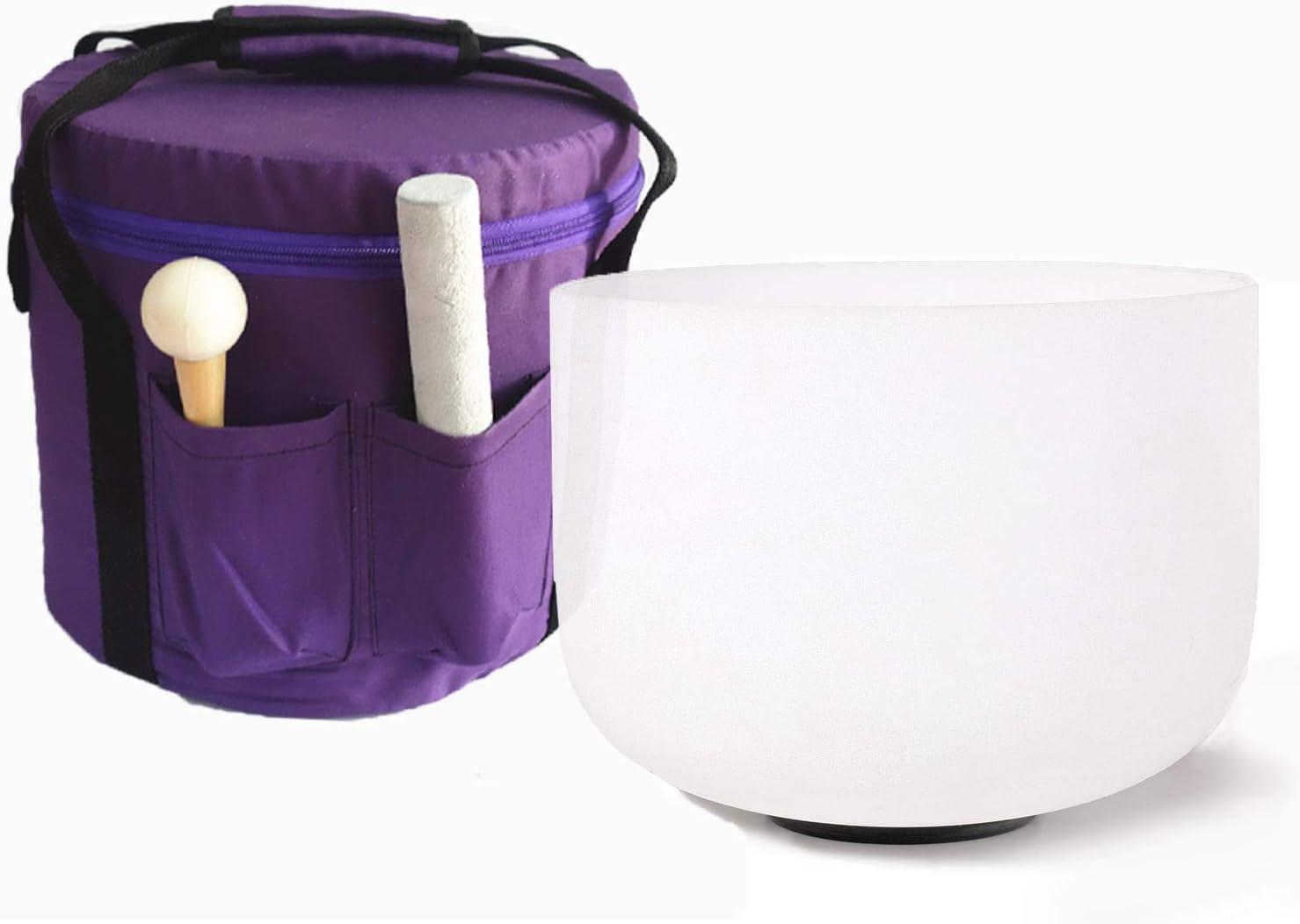 Cvnc Bol chantant en cristal de quartz givr/é Couleur Violette 25,4/cm avec sac de transport A note+bag