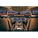 Educational Poster Boeing 777-200 Aeroplane Cockpit multicoloured
