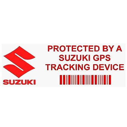 5 x ppsuzukigpsred GPS rojo dispositivo de seguimiento de seguridad ventana pegatinas 87 x 30 mm
