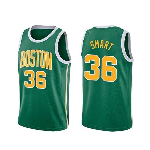 CCKWX Camiseta Clásica Boston Celtics # 36 Marcus Smart Camisetas ...