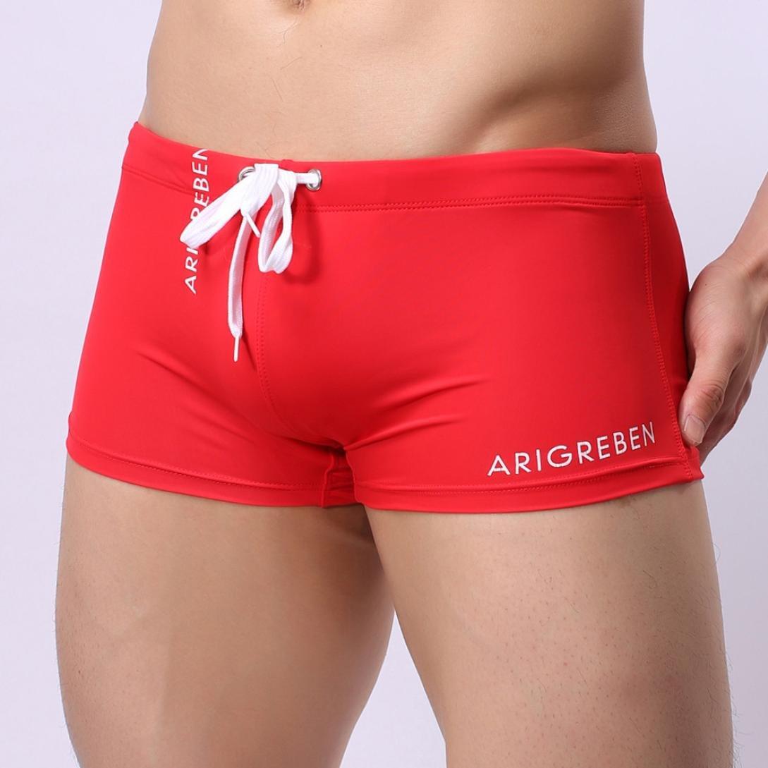 be28967669be Ruhiku GW Mens Swim Trunks Swimwear Short Compression Swimsuit Boxer Briefs  Beachwear