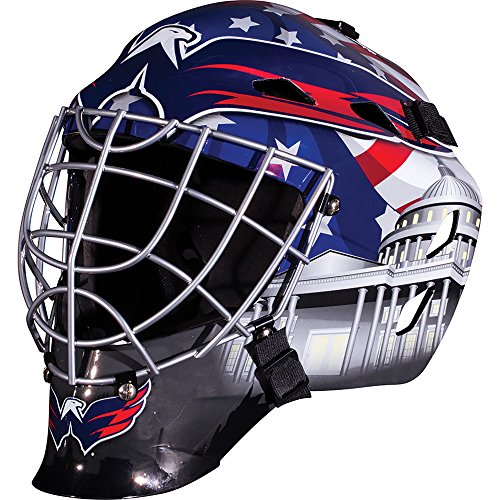 Franklin Sports Washington Capitals Goalie Mask - Team Graphic Goalie Face Mask - GFM1500 Only for Ball & Street - NHL Official Licensed Product