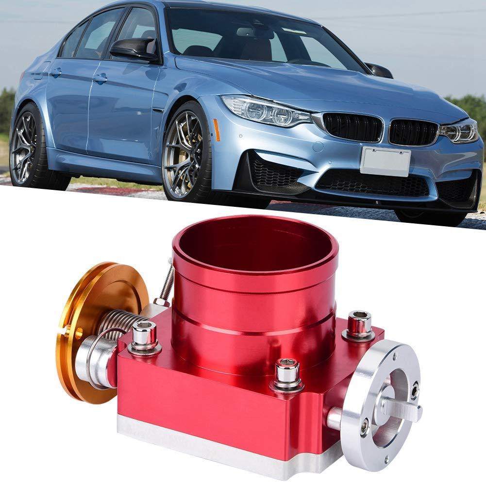 azul Duokon 70mm Asamblea del cuerpo del acelerador universal CNC Aluminio Alto caudal Cuerpo del acelerador Colector de admisi/ón