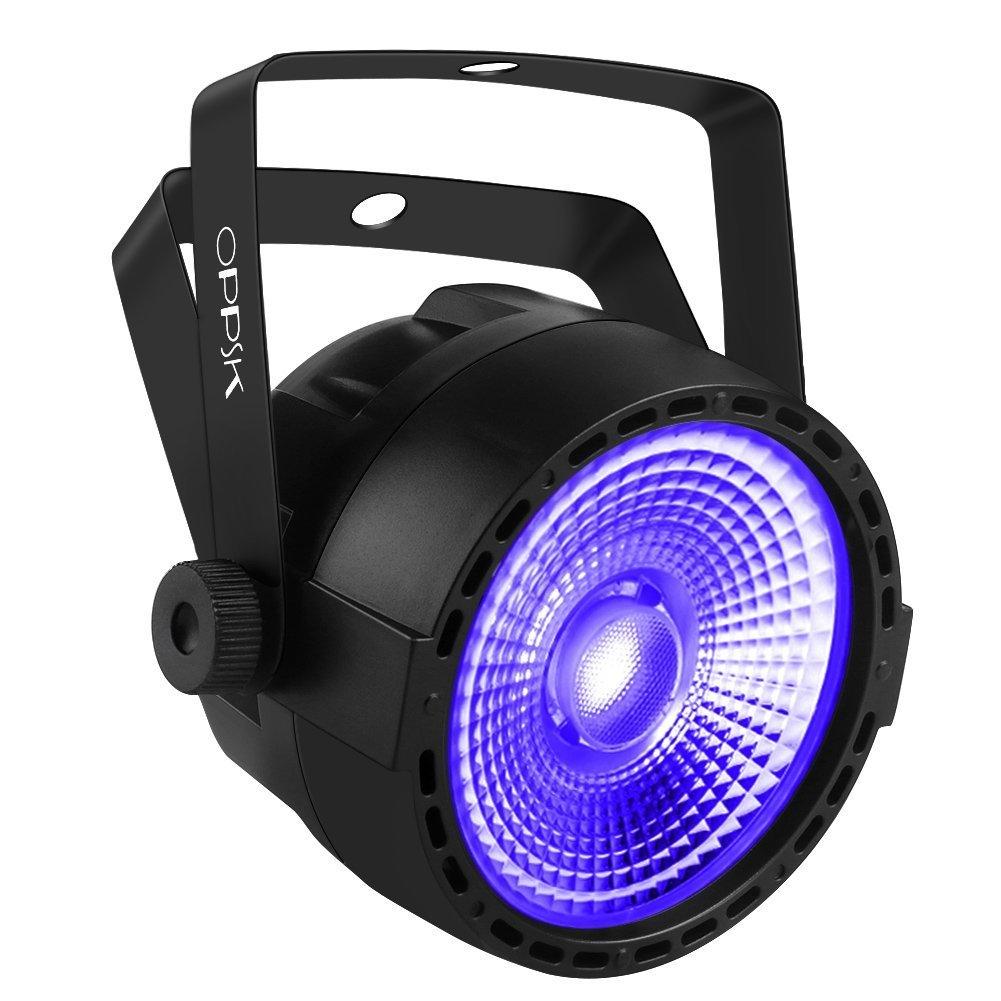 OPPSK 30W Black Light with COB UV LED Stage Lights by IR Remote DMX Control for Glow in the Dark Kids Birthday Party OK-020-cob uv