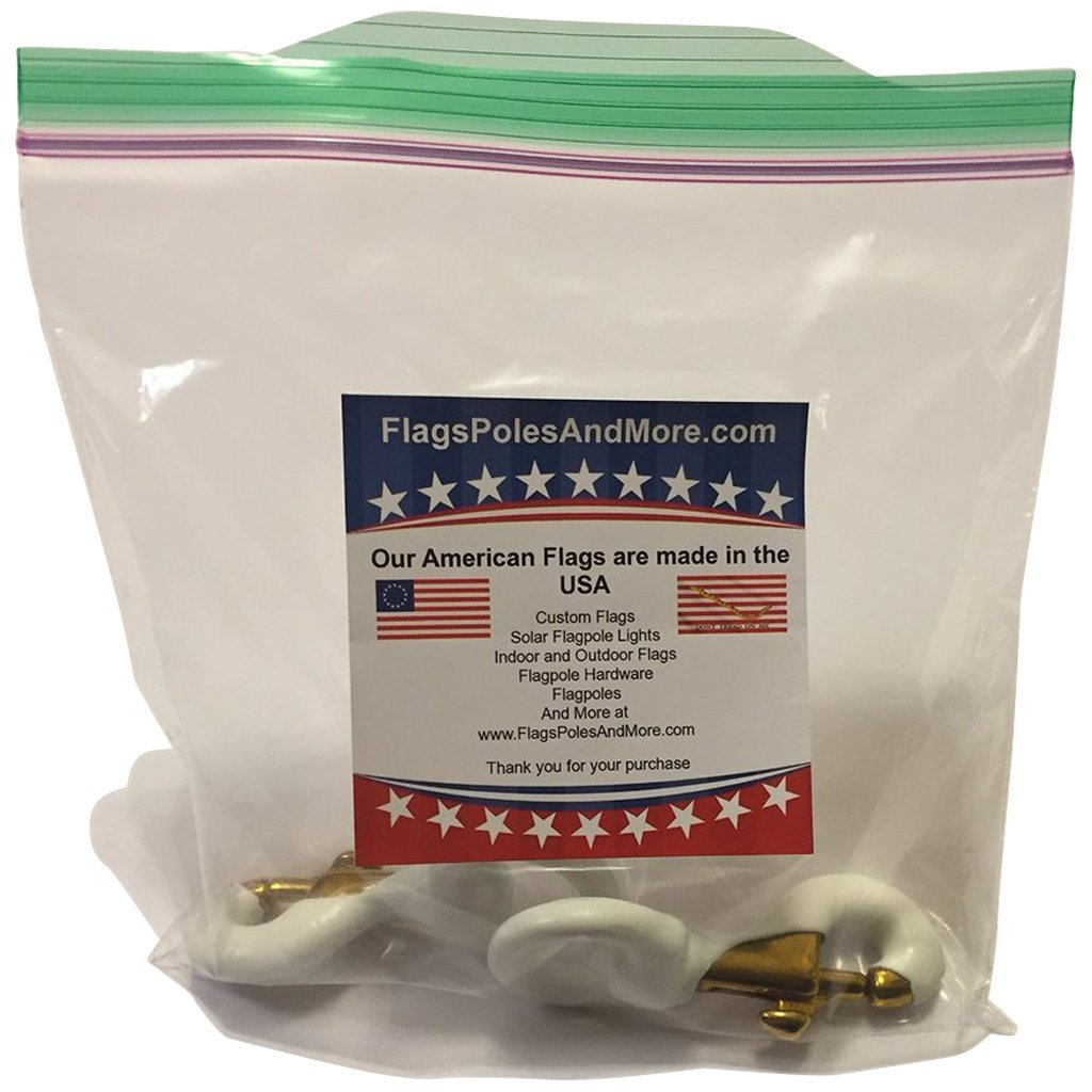 Flags Poles And More Pair of 3 Inch White Rubber Coated Brass Swivel Snap by (2, White) by Flags Poles And More (Image #3)