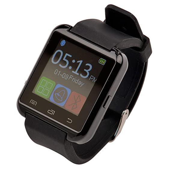 Ckeyin® Bluetooth Smart Watch inteligente U8 Reloj de pulsera para iPhone 4, 4s, 5, 5s, 6 y Android Phone: Amazon.es: Relojes