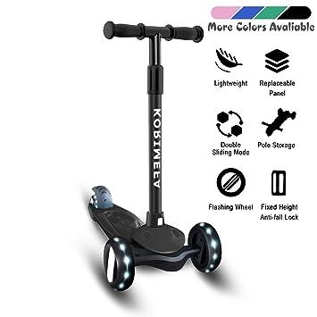 Amazon.com: Patinete para niños de 3 ruedas, patinete para ...