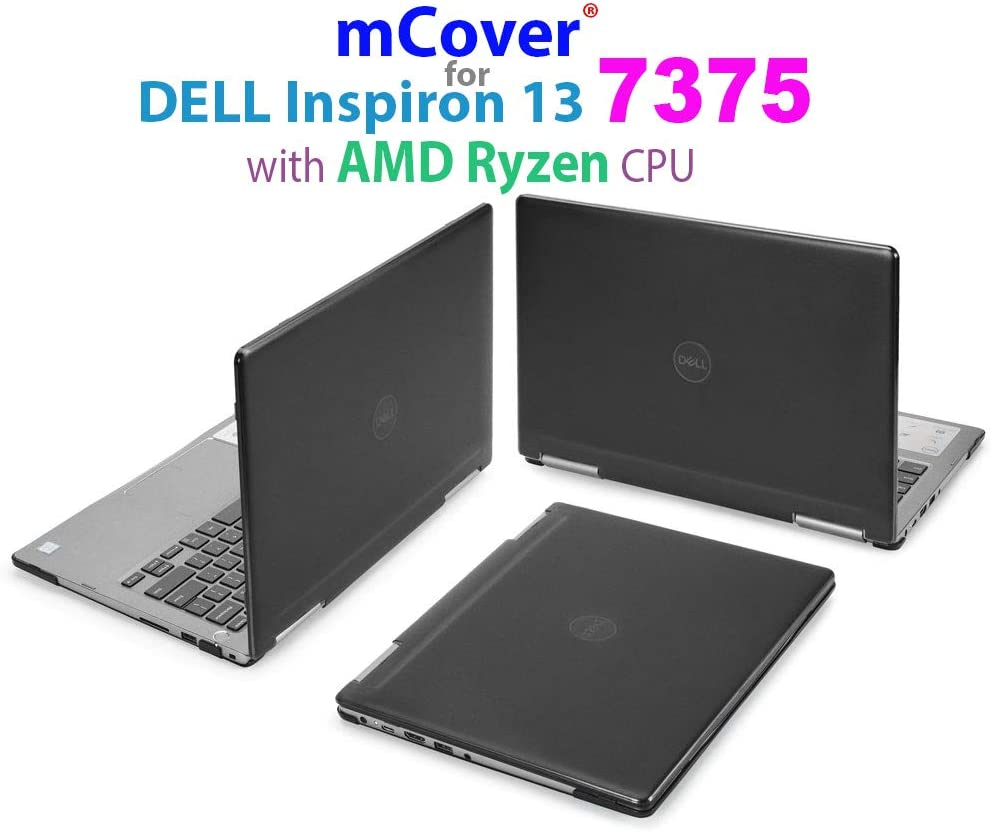 "mCover Hard Shell Case for 13.3"" Dell Inspiron 13 7375 (with AMD Ryzen CPU) 2-in-1 Convertible Laptop Computers (Dell I13-7375-AMD Black)"