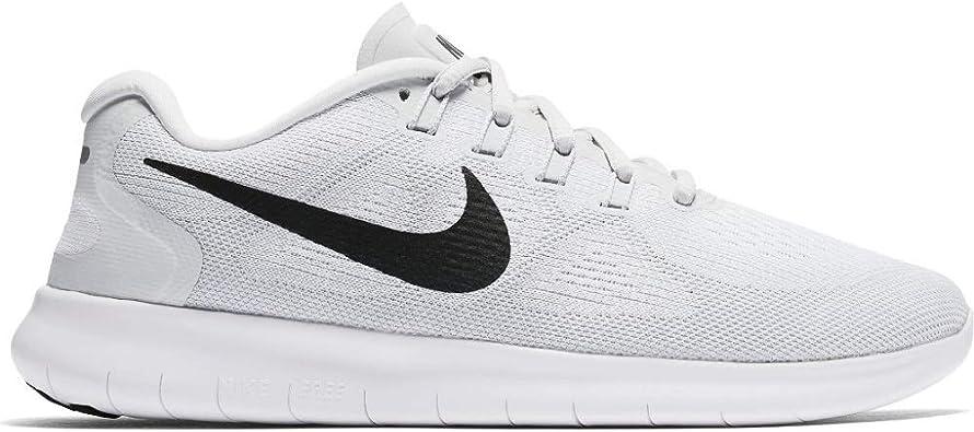 Nike Wmns Free RN 2017, Zapatillas de Deporte para Mujer, Multicolor (White/Black/Pure Platinum 101), 44 EU: Amazon.es: Zapatos y complementos