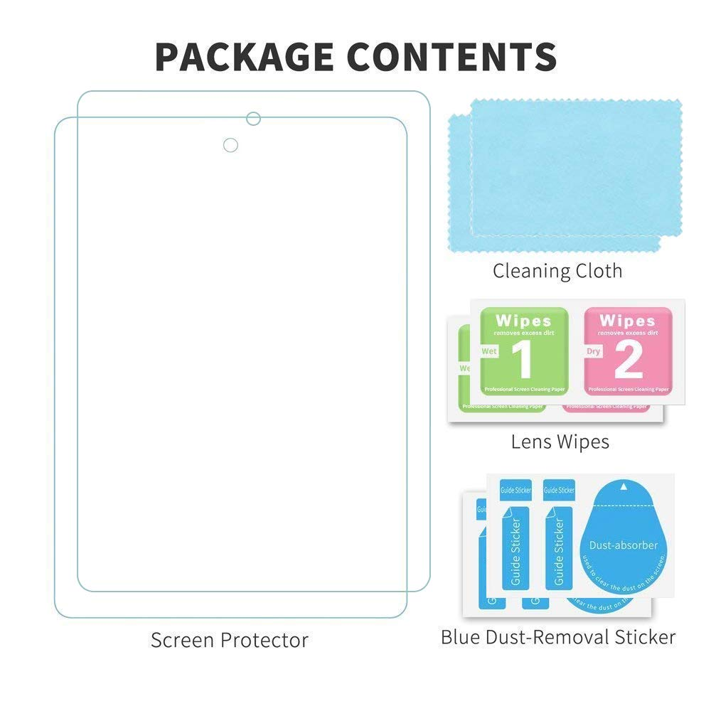 2 Pack All New Fire HD 8 Tablet Screen Protector Tempered Glass Film kids edition Tablet JDHDL Anti Scratch Bubble Free Easy Installation Screen Protector Compatible with Fire HD 8