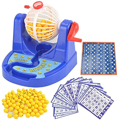 Deluxe Game Bingo Cage (SSJ Children's Educational Bingo Set Lottery Party Game (B))