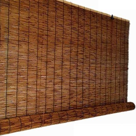 Reed blinds Persianas enrollables de bambú, carbonizar Cortinas de caña, decoración de partición, Cortinas de privacidad, Protector Solar Retro,Tejido a Mano, el tamaño Puede ser Personalizado: Amazon.es: Hogar