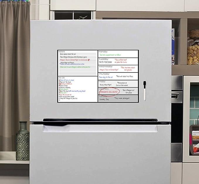Amazon.com: Weekly Dry Erase Refrigerator Calendar - 17