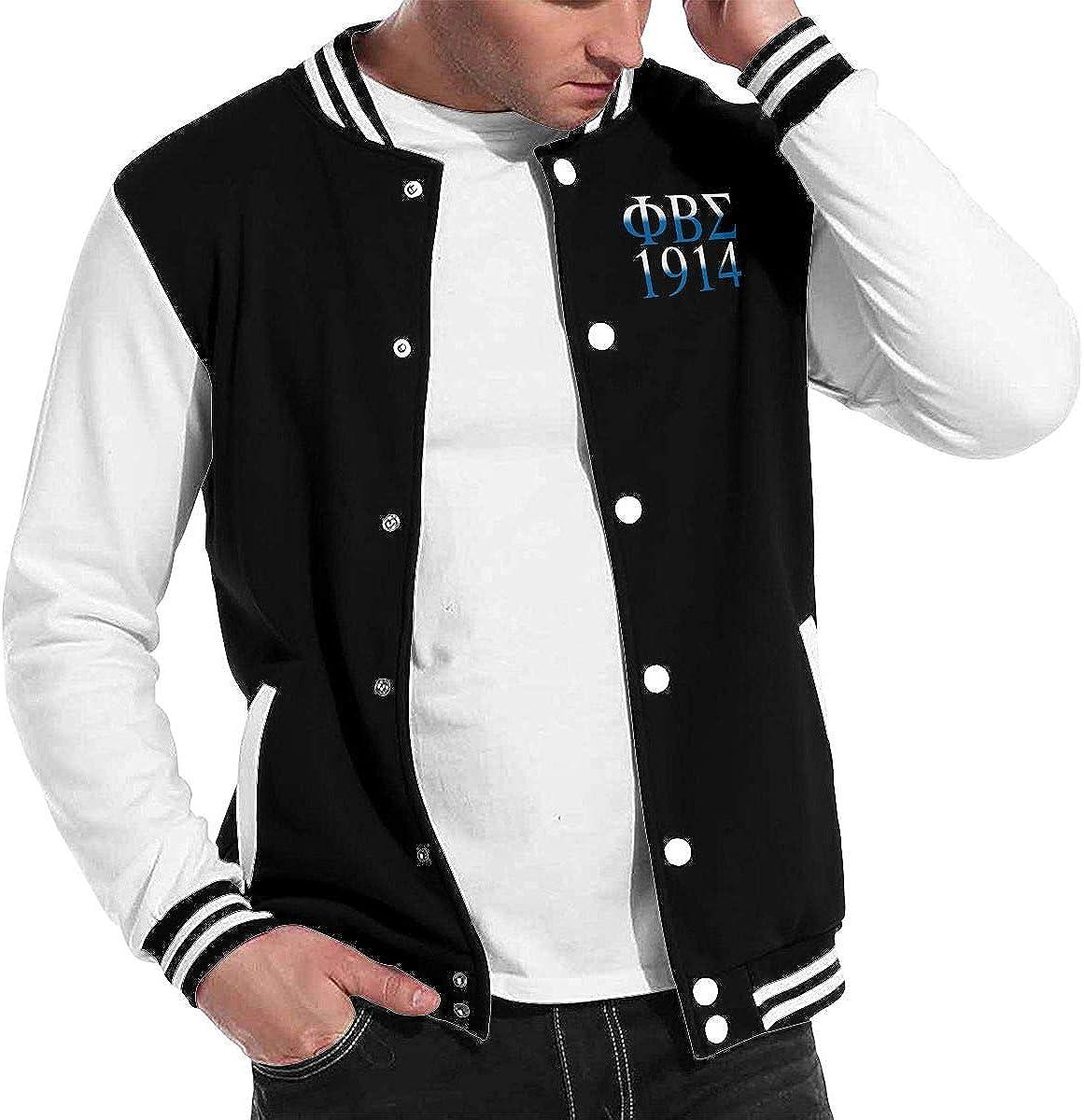 Phi Beta Sigma Baseball Jacket Mens Winter Thick Warm Baseball Uniform Coat