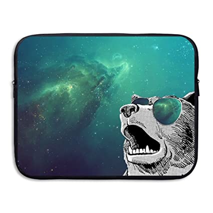 4744855015a8 Amazon.com: Laptop Case, Funny Bears With Sunglasses In Space 13 ...
