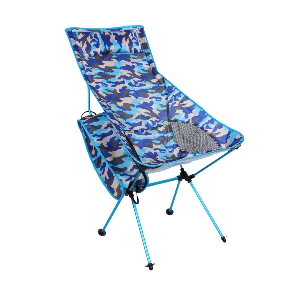 Cankun Im Freien Faltbarer Lounger-Stuhl Mit Abnehmbarem Kissen, Gebrauch Für Festivals, Fischen, Strand Und Garten
