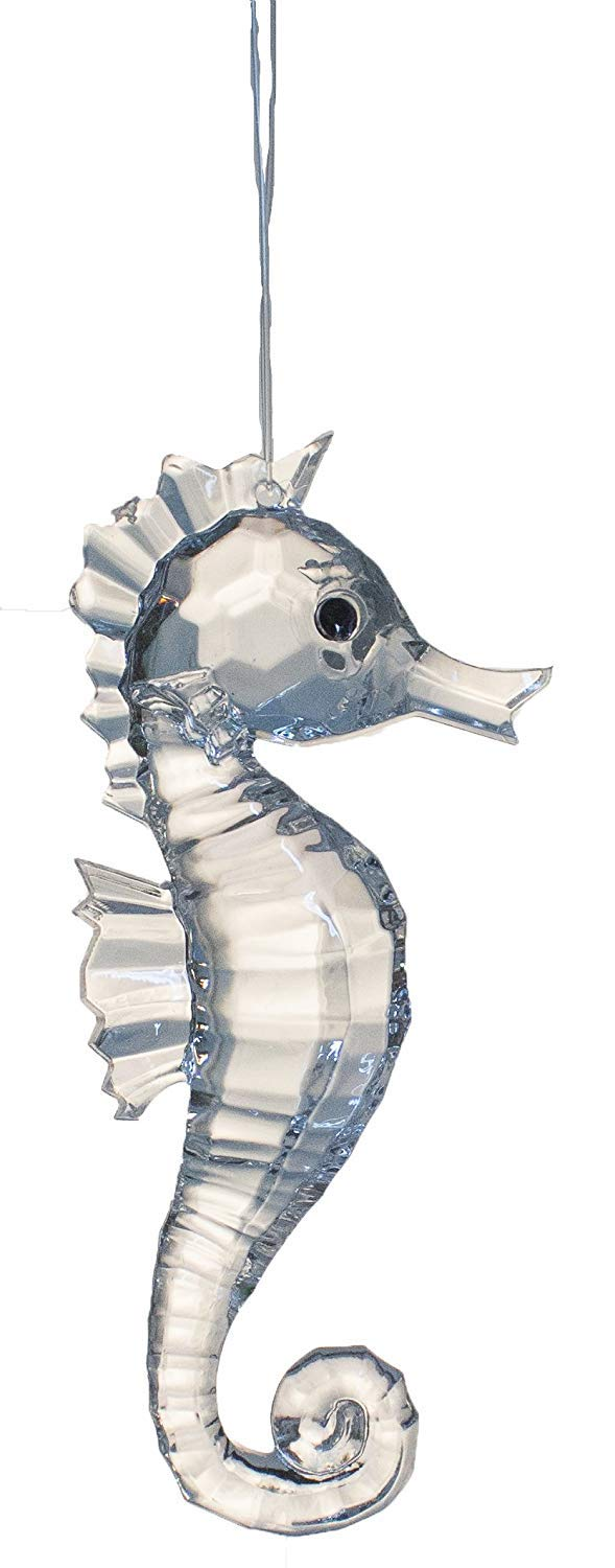 Gnz Crystal Expressions 3.5 Inch Seahorse Ornament//Suncatcher Blue
