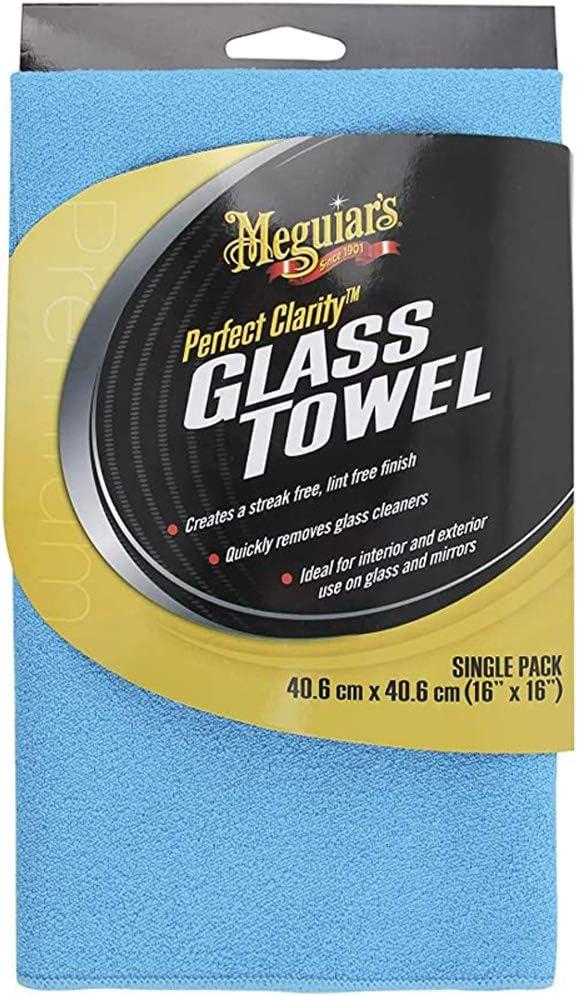Meguiar S X190301eu Perfect Clarity Glass Towel Glasreinigungstuch Blau Auto