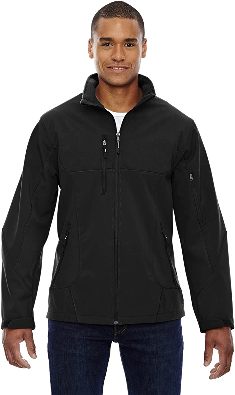 Ash City North End Compass Color-Block Soft Shell Jacket (88156) -Black -3XL