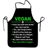 NVJUI JUFOPL Funny Vegan Chef Kitchen Cooking and Baking Bib Apron I Am Still A Vegan