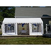 ShelterLogic 25897 Party Tent Enclosure Kit with Windows, 10 X 20-Feet/3 X 6m, White