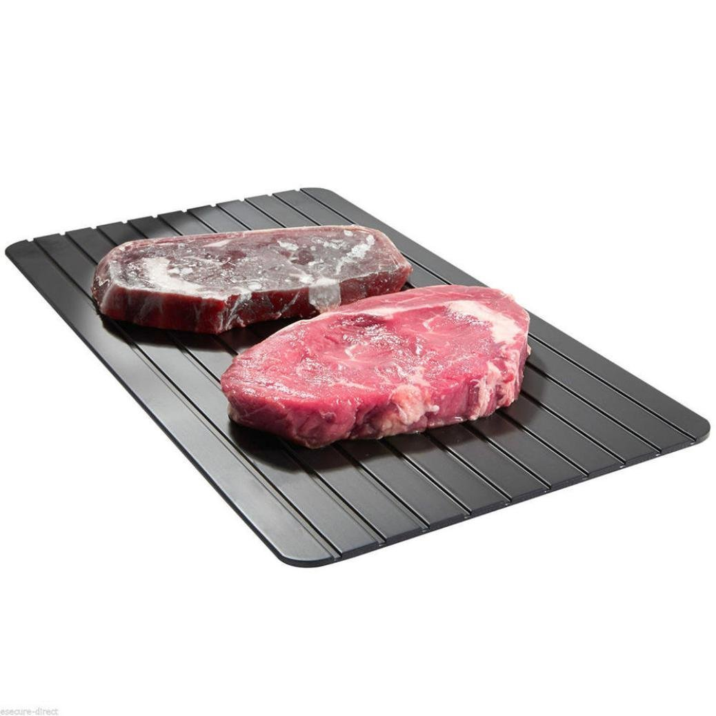 Defrost Tray:Natural Way to Defrost Meat or Frozen Food Quickly Without Electricity, Microwave, Hot Water or Any Other Tools