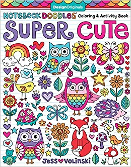 notebook doodles super cute coloring activity book design originals 32 adorable animal designs beginner friendly relaxing creative art activities high quality extra thick perforated paper
