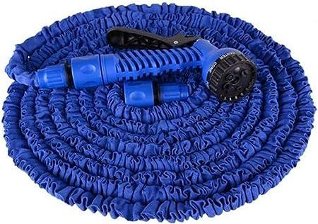 Manguera De Jardín Extensible, La Manguera Retráctil con 8 Funciones Múltiples De La Manguera For La Casa, El Jardín, El Patio De Limpieza (Color : Blue, Size : 22m): Amazon.es: Hogar