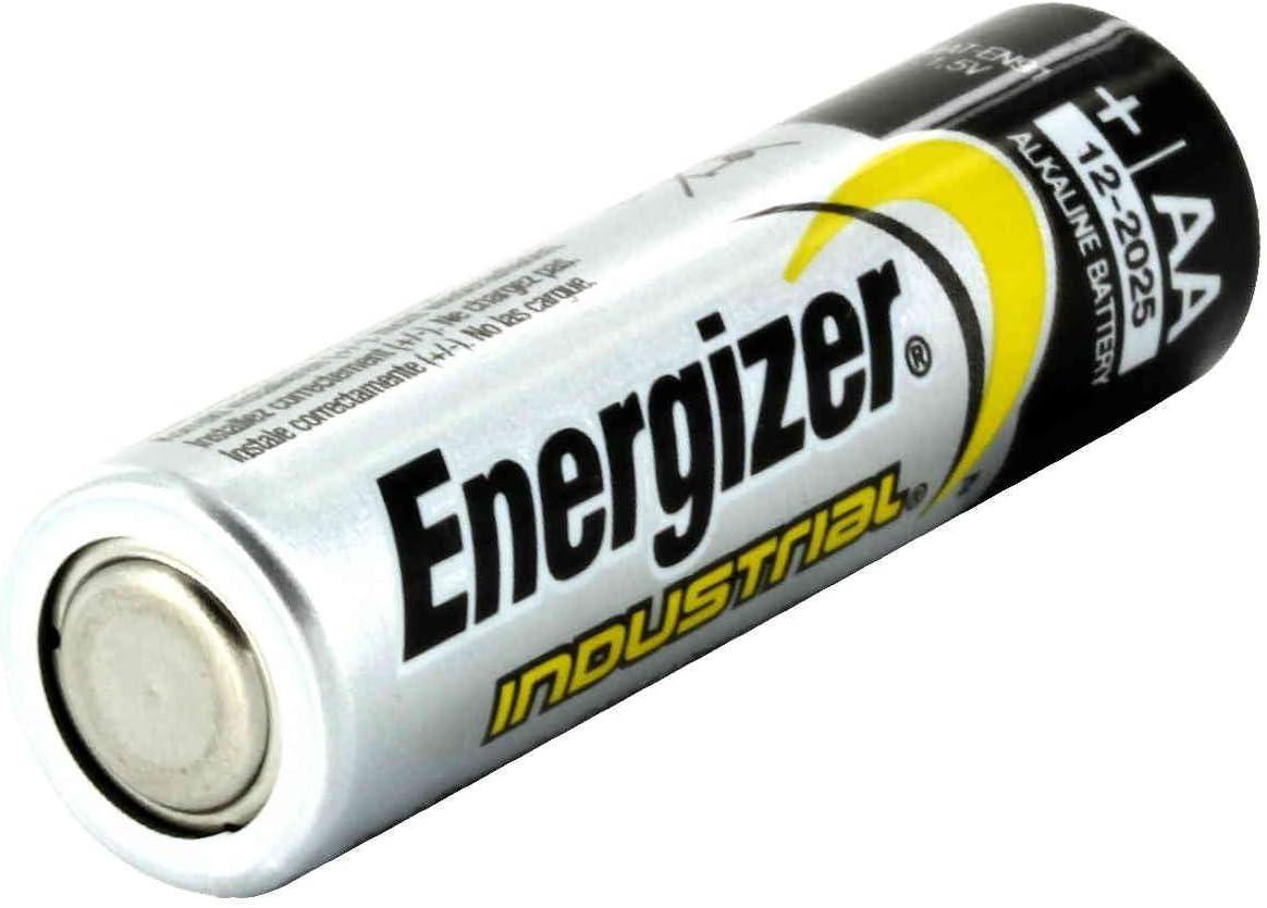 24 Count Model EN91 Energizer Industrial Alkaline Batteries, AA Batteries