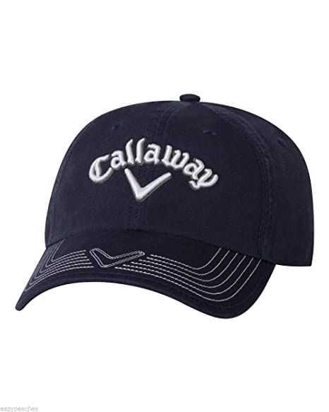 Amazon Com Callaway Golf Mens Adjustable Pro Stitch Cap Hat Navy