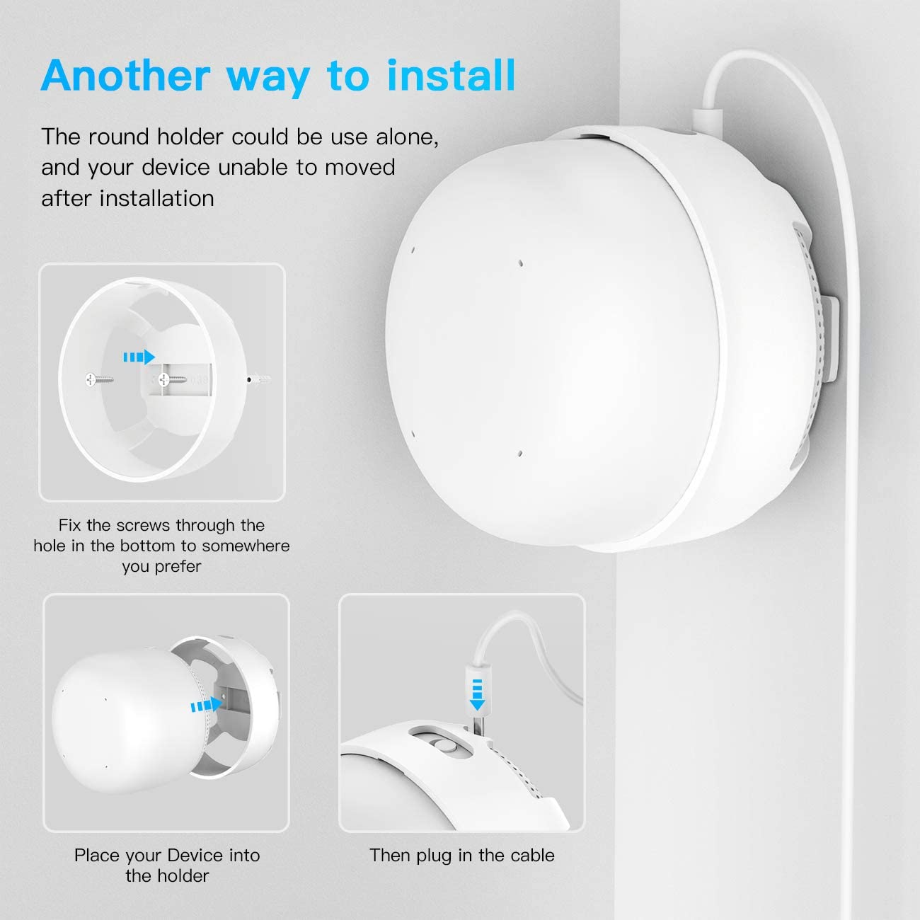 3 Pack HOLACA Outlet Wall Mount Only for Google Nest WiFi Point No Tools Required and No Cord Clutter Easy Moved Holder Hanger Compatible with Google Nest WiFi Point