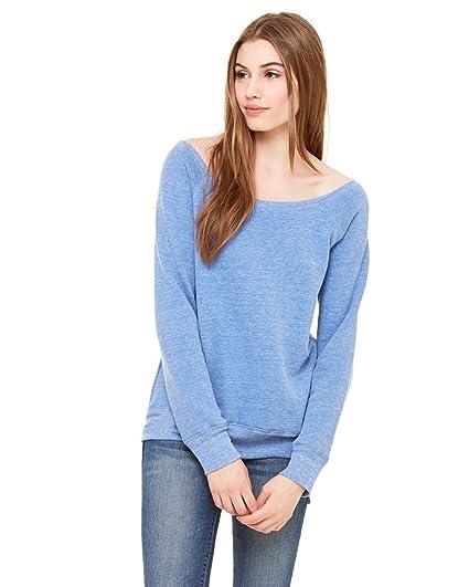 d32c7f835d0 Amazon.com  Bella Canvas Women s Sponge Fleece Wide Neck Sweatshirt ...