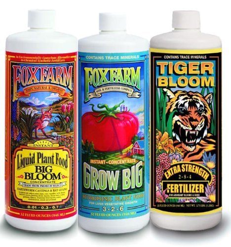 FoxFarm FX14050 Big Bloom, Grow Big & Tiger Bloom Liquid Fertilizer...