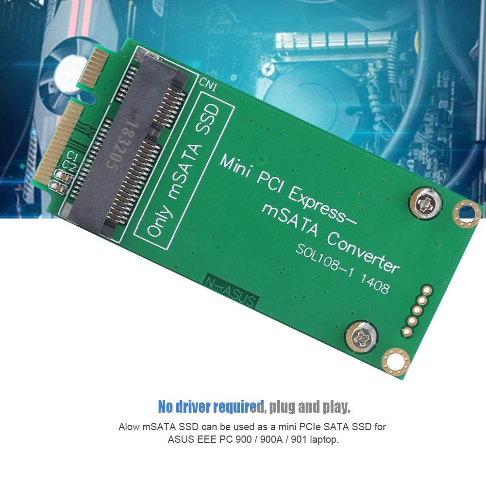Convertidor MSATA SSD mSATA a Mini PCI Express SATA SSD Riser Card ...