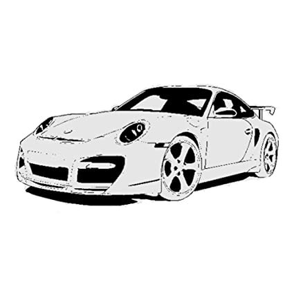 Fangeplus(TM DIY Removable Porsche 911 Sport Car Turbo Art Mural Vinyl Waterproof Wall Stickers