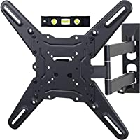 TV LCD Monitor Wall Mount Full Motion Swing Out Tilt Swivel Articulating Arm Angle Adjustable for Flat Screen TVs 32 to 55 Inch