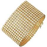 Iced Out Bling Hip Hop Bracelet - RAPPER 12 ROW gold