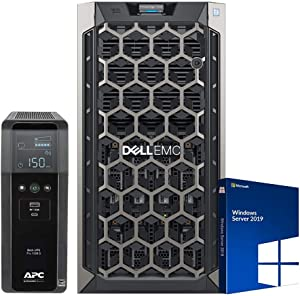 Dell PowerEdge T340 Tower Server for Dental Practices Bundle with Windows 2019 STD OS, APC UPS for Power Backup, Intel Xeon E-2136 3.3GHz CPU, 32GB DDR4 RAM, 8TB HDD, RAID