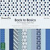 Dovecraft, Back to Basics, Collezione Blue Skies, decorazioni in carta, Carta, Blue, 12x12 Paper Pack