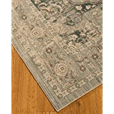 NaturalAreaRugs Sarafina Collection Vintage Design Premium Traditional Turkish Polypropylene Area Rug, Soft, Durable, (6 Feet 7 Inches X 9 Feet 2 Inches)