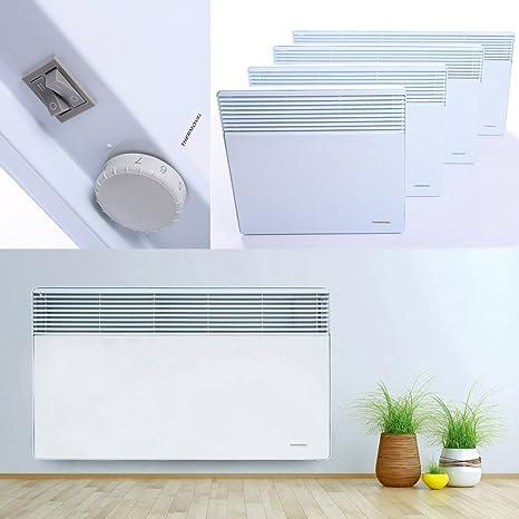 Convector para pared eléctrico Calefacción calefactor eléctrico calefactor radiadores (térmica, 1000 W