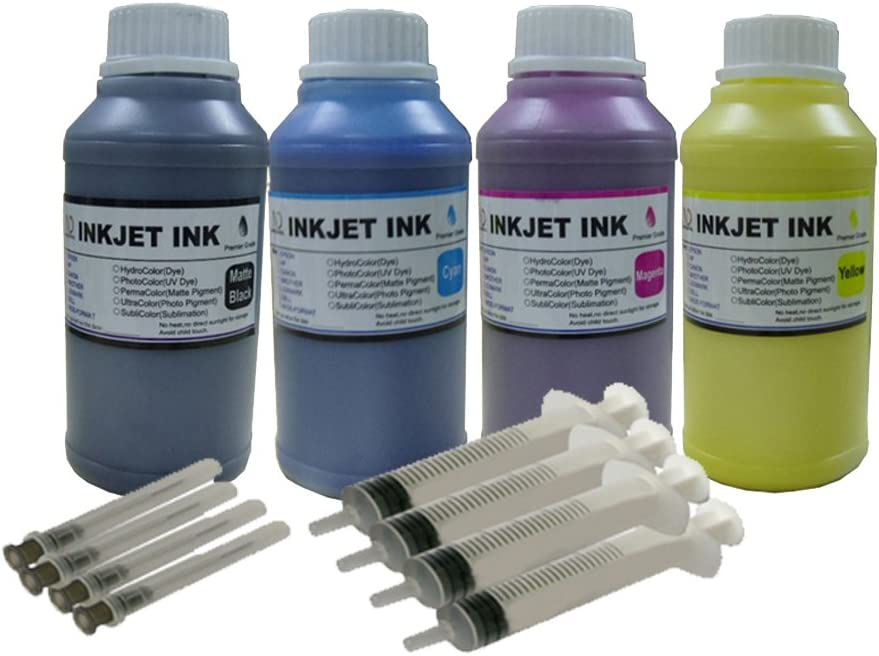 ND R@ 4 x 250ml Pigment Ink Refill Kit for HP 934 934XL 935 XL: OfficeJet Pro 6230 Pro 6830 OfficeJet 6812 6815 Printers