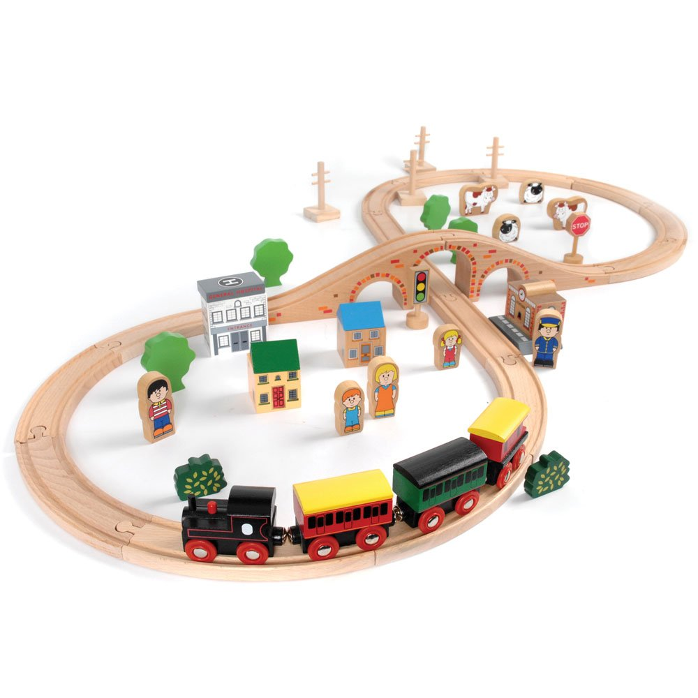 Tidlo Wooden Train Track