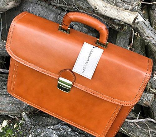 Leder-Aktentasche/Laptoptasche aus italienischer Handarbeit, ca. 40cm