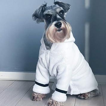 XDYFF Perro Albornoz Microfibra Albornoces Abrigos de Secado Perro y Gato Fado Schnauzer Teddy obtiene Bata Extra Gruesa y Pijamas de camisón en Invierno: ...